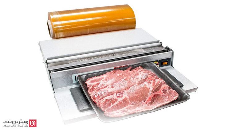 دستگاه سلفون کش برای بسته بندی انواع مواد غذایی استفاده می شود.