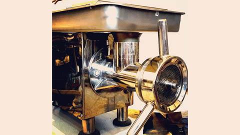 چرخ گوشت صنعتی رومیزی گیربکسی تمام استیل