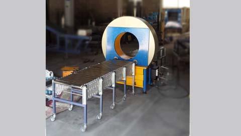 دستگاه اتوماتیک استرچ تونلی مدل 60 DN_ SW2000ton , دستگاه استرچ پالت