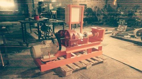 دستگاه زغال فشرده گیربکس