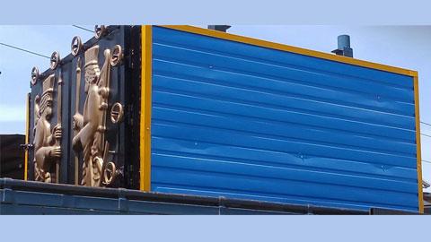 کوره صنعتی زغال 6 جداره , دستگاه کوره صنعتی تولید زغال